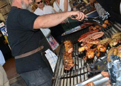 Barbecue pendant l'inauguration de la Boucherie Abbaye
